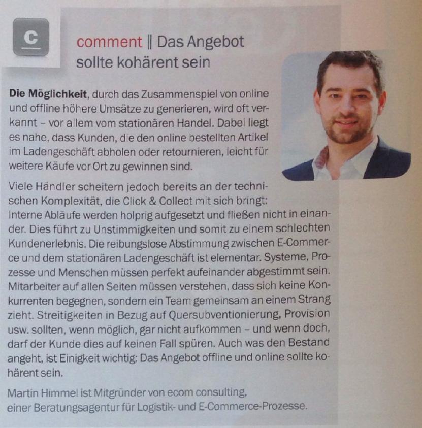 Beitrag E-Commerce Magazin